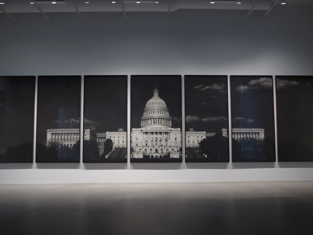 Robert Longo, Untitled (Capitol), 2012-2013, charcoal on paper, 120 x 450 inches
