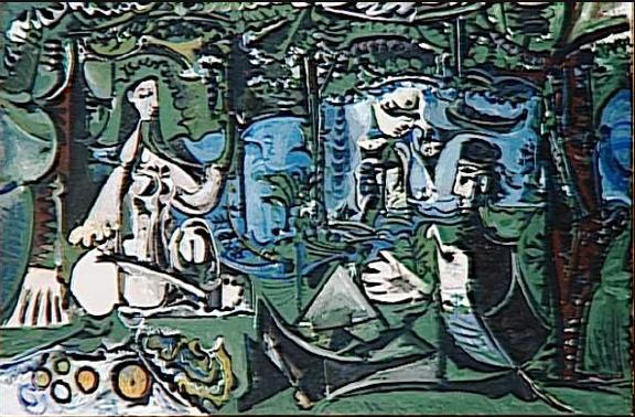 Pablo Picasso Le Dejeuner sur l'herbe d'aprés Manet , 1960, Musée Picasso, Paris