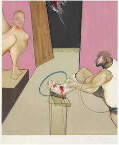 Francis Bacon OEDIPE ET LA SPHINX D'APRÈS INGRES