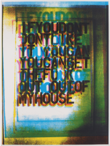 Christopher Wool My House III, 2000, Screenprint in colors