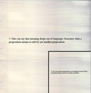 Joseph Kosuth Wittgenstein Series 1989