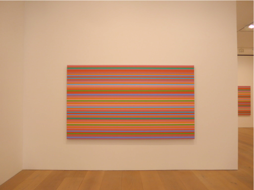 Bridget Riley Stripe Painting